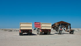 Sand trucks Royalty Free Stock Photography