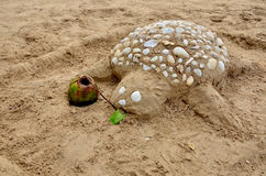 Sand-Turtle Stock Photo