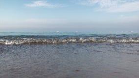 Sand-und Galician-Strand und das Meer stock video footage