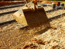 Sand-und Kies-Filterbett Stockbilder