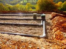 Sand-und Kies-Filterbett Lizenzfreies Stockfoto