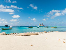 Sand und Kiesbaggerei im Ozean Stockfoto
