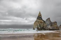 Sand und stürmische Wolken Stockfotografie