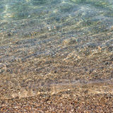 Sand vaggar och havet Arkivbilder
