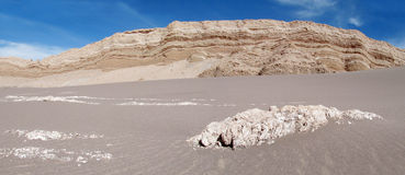 Sand in Valle de la Luna, Moon valley in San Pedro de Atacama desert Stock Image