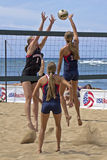 Sand Volleyball Challenge Royalty Free Stock Photo