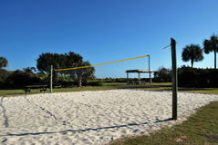 Sand Volleyball. Court at Isle of Palms park, South Carolina stock images