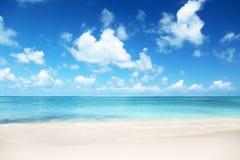 Sand von karibischem Meer des Strandes Lizenzfreie Stockfotos