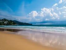Sand von Strand andaman Meer An Surin-Strand Phuket stockfotografie