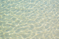 Sand and water background Royalty Free Stock Images