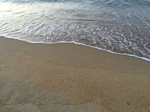 Sand and water. The beach and sand are beautiful Royalty Free Stock Photos