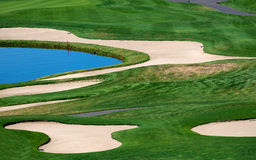 Sand and water hazards Royalty Free Stock Photography