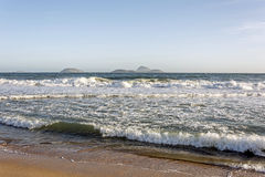 Sand and water. Ipanema beach in Rio de Janeiro Stock Images