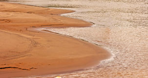 Sand and waterfront Royalty Free Stock Photo