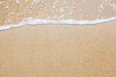 Sand and wave background Royalty Free Stock Photos