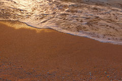 Sand and wave background a lot of copyspace Stock Photos