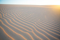 Sand wave texture in desert of Colombia Royalty Free Stock Photos