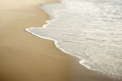 Sand with waves. Stock Photos