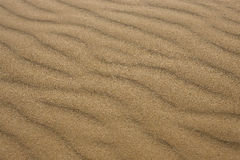 Sand waves on the beach Royalty Free Stock Image