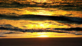 Sand waves beach Stock Image