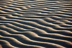 Sand waves in desert Royalty Free Stock Photography