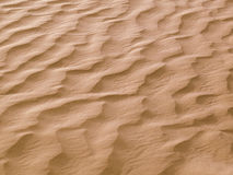 Sand waves in the desert Royalty Free Stock Photos