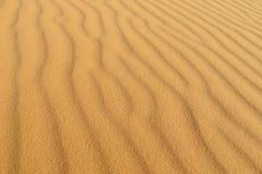 Sand waves desert pattern. Sand waves desert dunes in Sahara. Sand desert pattern. High sand dunes in the biggest world Sahara desert, Africa. Sahara erg Stock Photo