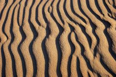 Sand Waves Pattern Stock Image