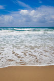 Sand and waves in the sea Royalty Free Stock Photos