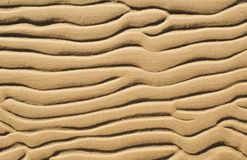 Sand. Wavy patterns on coastal sand Stock Image