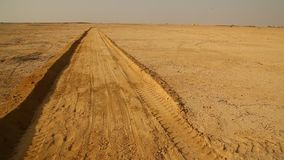 Sand Way in the Desert stock video footage