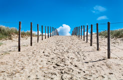 Sand way to the heaven Stock Images