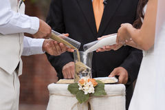 Sand wedding ceremony Stock Photos