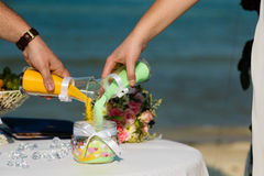 Sand wedding ceremony Stock Images