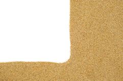 Sand on a white background Royalty Free Stock Images