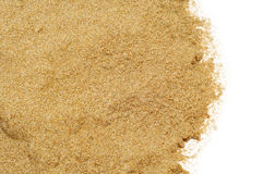 Sand on a white background Stock Photo