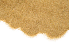 Sand on a white background Royalty Free Stock Photography