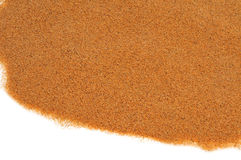 Sand on a white background Stock Image