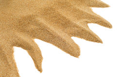 Sand on a white background Royalty Free Stock Image