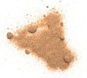 Sand on white. Sand isolated on white background stock image