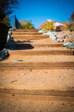Sand and Wood Staircase Royalty Free Stock Images