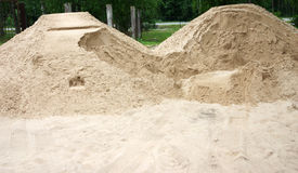 Sand at the wood, two hills. River sand at the wood, two sandy hills Stock Images