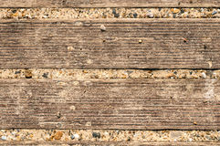 Sand on a Wooden Decking Background Royalty Free Stock Photography