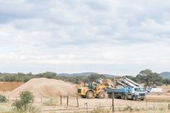 Sand works site between Windhoek and Okahandja royalty free stock images