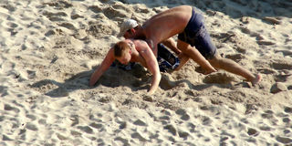 Sand Wrestlers Stock Image