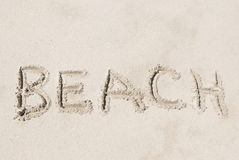 Sand Writing Royalty Free Stock Image