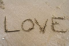 Sand Writing Stock Images