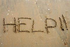 Sand Writing Stock Image