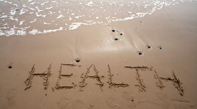 Sand writing - HEALTH