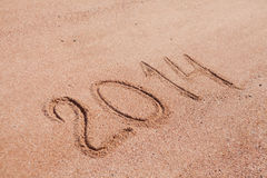 2014 on the sand Stock Image